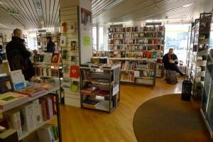 Blick in die ehemalige Buchhandlung Romanica