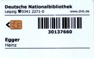 Nationalbibliothek Frankfurt und Leipzig Mitgliederausweis