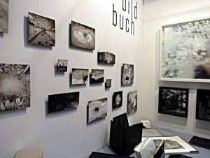 Tuschelavierungen und Glasbilder am Stand von Franziska Heller
