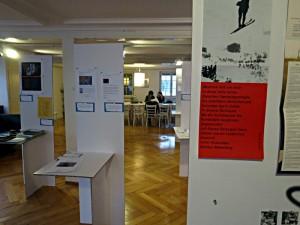 Blick in die Ausstellung der Verlage