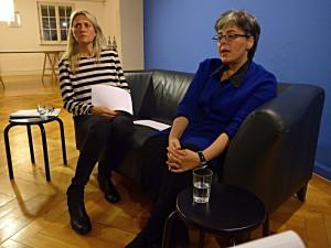 Sandra Schiess (von SRF1) und Gabriella Karger (Karger Publishers)