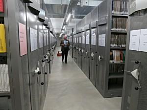 Im Keller der BiG lagern die Bestände von über 40 Verwaltungsbibliotheken des Bundes