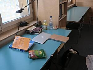 Arbeitsplatz im Lesesaal