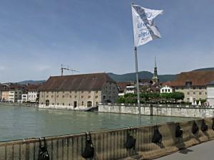 Aarebrücke, Landhaus, Fahne der Solothurner Literaturtage