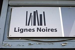 Buchhandlungsschild: Lignes Noires