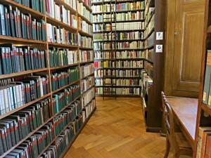 Das Mosaik der Bücherrücken, Fensternische und Stuhl