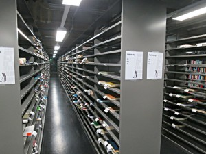 Fächer der Ausleihe - 1400 im ersten Untergeschoss