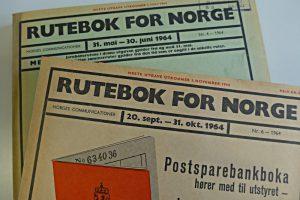 Norwegischer Fahrplan von 1964