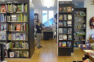 Blick in die Buchhandlung