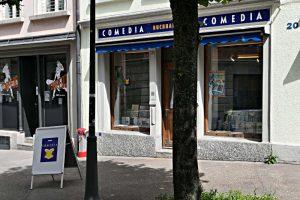 Ladenfront der Buchhandlung