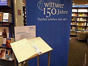 """Gästebuch zum Jubiläum """"150 Jahre Wittwer"""""""