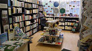 Blick in den Raum mit den lateinisch gesetzten Büchern