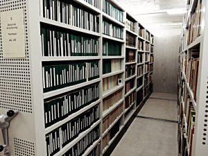 Compactus-Anlage im neuen Teil des Bibliothek