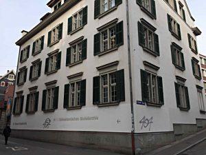 Haus des Sozialarchivs in der Nähe des Bahnhofs Stadelhofen