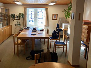Arbeitsraum der Dokumentationsbibliothek