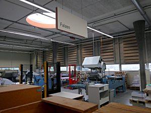 Industrielle Buchfertigung: Falzabteilung