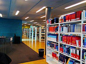 grosszügiger Bibliotheksraum